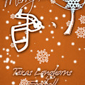 Texas Longhorns Christmas Card by Joe Hamilton