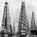 Texas: Oil Derricks, C1901 by Granger