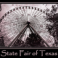 Texas Star Copper Poster by Joan Carroll