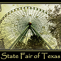 Texas Star Gold Poster by Joan Carroll