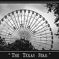 Texas Star In Bw by Imagery by Charly