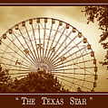 Texas Star In Gold by Imagery by Charly
