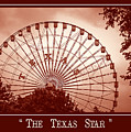 Texas Star In Orange by Imagery by Charly