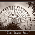 Texas Star In Sepia by Imagery by Charly