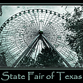 Texas Star Aqua Poster by Joan Carroll