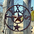Texas Star Rustic Iron Sign by Terry Fleckney