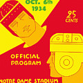 Texas Vs Notre Dame 1934 Program by John Farr