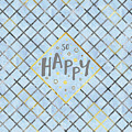 Text Art So Happy - Blue by Melanie Viola