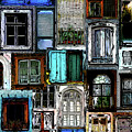 Textural Windows Collage by Phil Perkins