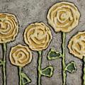 Texture Blooms In Sunshine by Stewalynn Art