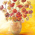 Textured Flowers In A Vase by Nadine Rippelmeyer