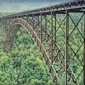 Textured New River Gorge Bridge by Dan Sproul
