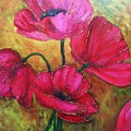 Textured Poppies by Chris Hobel