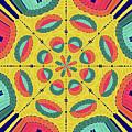 Textured Tropical Mandala by Gaspar Avila