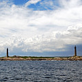Thacher Island Twin Lights Storm Coming In by Armand Hebert