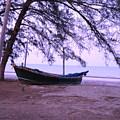 Thai Fishing Boat 04 by Pusita Gibbs