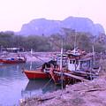 Thai Fishing Boats 05 by Pusita Gibbs