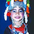 Thai Girl Traditionally Dressed by Heiko Koehrer-Wagner