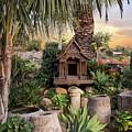 Thai Spirit House by Endre Balogh