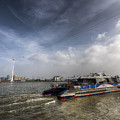 Thames Clipper And Cable Car by David Pyatt