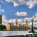 Thames River In London # 3 by Mel Steinhauer