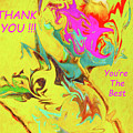 Thank You Card Abstract Lilac Breasted Roller by Kay Brewer