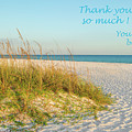 Thank You Card - Beach by Kay Brewer
