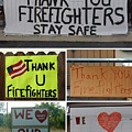 Thank You Firefighters Collage by Patricia Strand