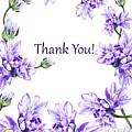 Thank You Purple Flowers Garden by Irina Sztukowski