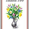 Thank You Spring Flowers by Irina Sztukowski