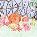 Thanksgiving At The Wagon Wheel Fence by Rosemary Mazzulla