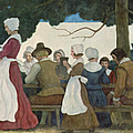 Thanksgiving Banquet by Newell Convers Wyeth