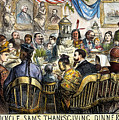Thanksgiving Cartoon, 1869 by Granger