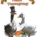 Thanksgiving Pilgrim Ducks by Gravityx9 Designs