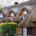 Thatched Cottages In Chawton 2 by Shirley Mitchell