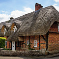 Thatched Cottages In Chawton by Shirley Mitchell