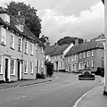 Thaxted Cottages In Black And White by Gill Billington
