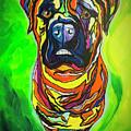 The Abstract Mastiff by Janice Pariza