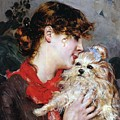 The Actress Rejane And Her Dog by Giovanni Boldini
