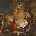 The Adoration Of The Shepherds by Francesco Zugno