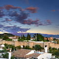 The Alhambra Palace And Albaicin At Sunset by Guido Montanes Castillo