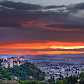 The Alhambra And Granada City by Guido Montanes Castillo