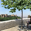 The Alhambra From Sacromonte by Digby Merry