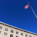 The American Flag At The United States Department Of State by Cora Wandel