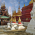 The Ancient Shwezigon Pagoda - Partial View by Gabriele Pomykaj