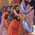 The Apostles Of Maria Fragment 1311 by Duccio