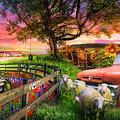 The Appalachian Farm Life In Beautiful Morning Light by Debra and Dave Vanderlaan