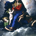 The Apparition Of The Virgin by Girolamo Da Carpi