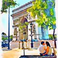 The Arc De Triomphe Paris by Marian Voicu