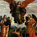 The Archangels Triumphing Over Lucifer by Marco DOggiono